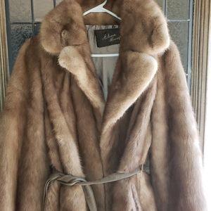 vintage 1970s? princess mink stroller coat S